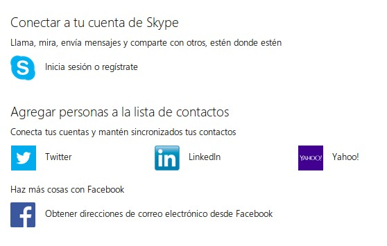 Importar contactos de Facebook desde Outlook